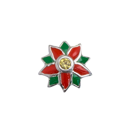 STOW December Poinsettia (Cherised) Charm
