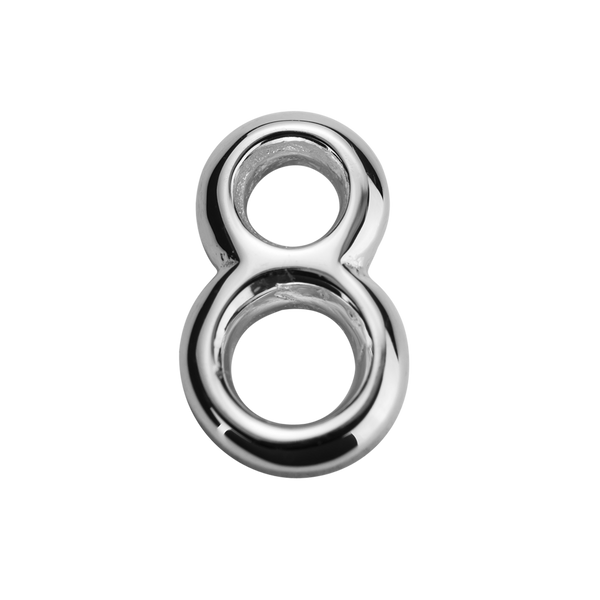 STOW Number 8 Charm - Sterling Silver