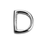 STOW Letter D Charm - Sterling Silver