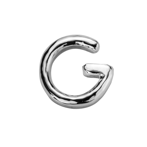 STOW Letter G Charm - Sterling Silver