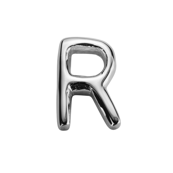 STOW Letter R Charm - Sterling Silver