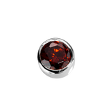 STOW Virtue Charm - Happiness - Garnet CZ & Sterling Silver