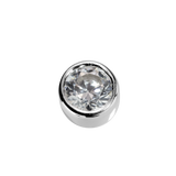 STOW Virtue Charm - Love - White Diamond CZ & Sterling Silver