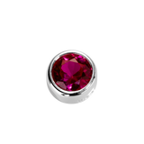 STOW Virtue Charm - Passion - Ruby CZ & Sterling Silver