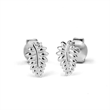 STOW Silver Stud Earrings - NZ Silver Fern (Loyal)
