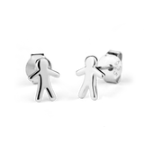STOW Silver Stud Earrings - Stowaway Boy (Heroic)