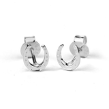 STOW Silver Stud Earrings - Lucky Horseshoe (Good Luck)
