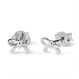 STOW Silver Stud Earrings - Bow (Gifted)