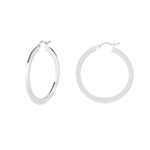 Boh Runga - Circle Shoops Silver Earrings