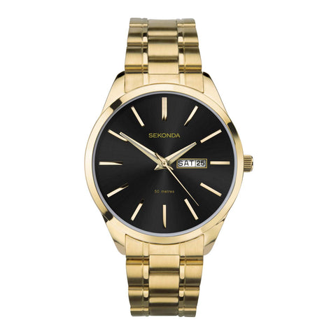 Sekonda Men's Classic Gold Plated Bracelet Watch
