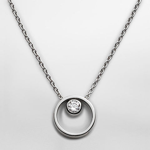 Skagen Jewellery Elin Crystal Circle Necklace - SKJ0833040