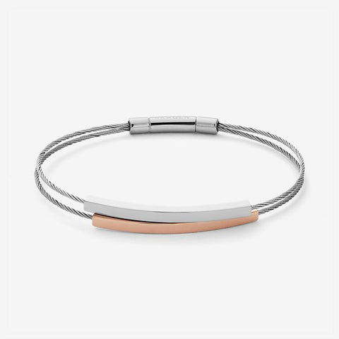 Skagen Jewellery Elin Two-Tone Cable Bracelet - SKJ1033998