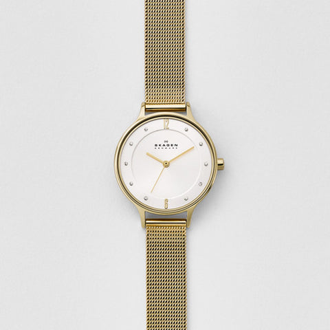 Skagen Anita Gold-Tone Steel-Mesh Watch SKW2150