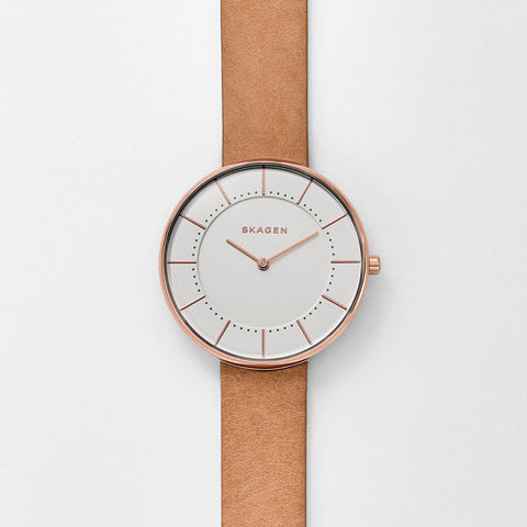 Skagen Gitte Leather Watch SKW2558