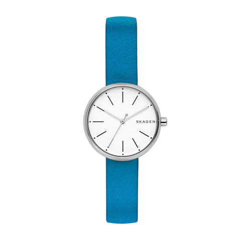 Skagen Signatur Blue & Leather Watch SKW2597