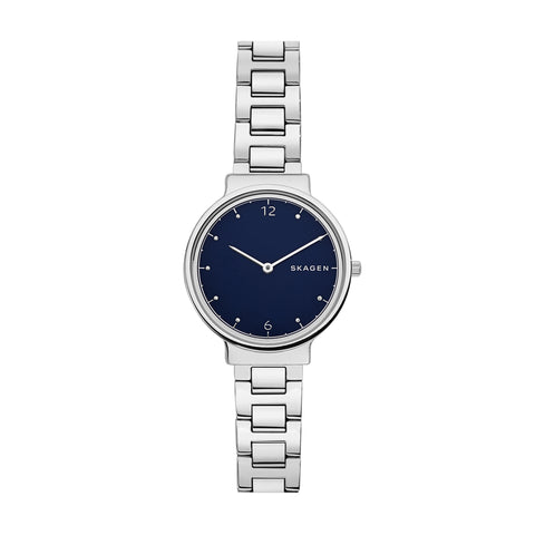 Skagen Ancher Silver & Blue Watch SKW2606