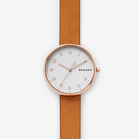 Skagen Signatur Leather Watch SKW2624