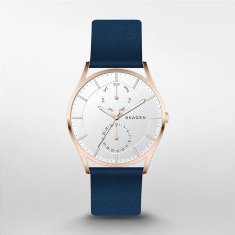 Skagen Holst Leather Multifunction Watch SKW6372