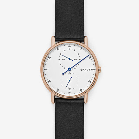 Skagen Signatur One-Hand Leather Watch SKW6390