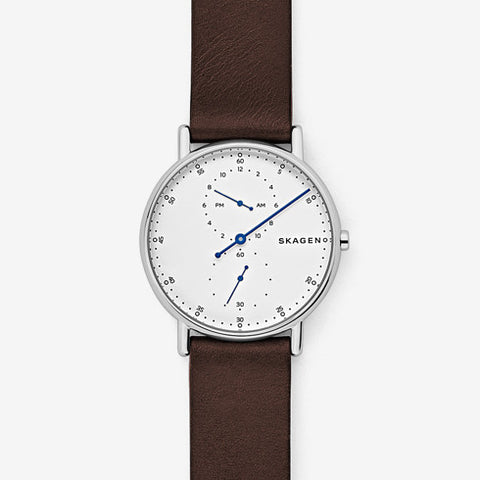 Skagen Signatur One-Hand Leather Watch SKW6391