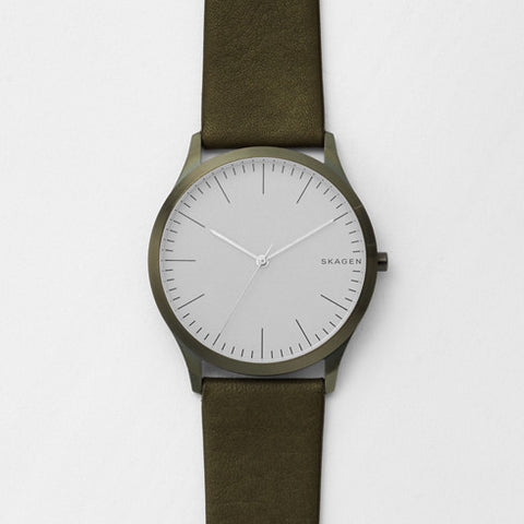 Skagen Jorn Green Leather Watch SKW6424