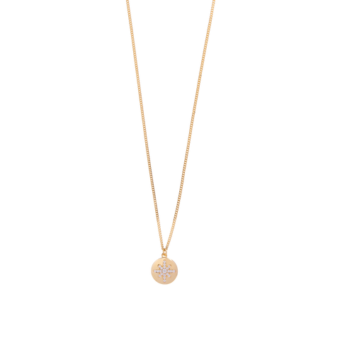 Boh Runga - Starburst Button Pendant - 9ct Yellow Gold