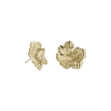 Meadowlark Coral Earrings Medium - Gold Plated