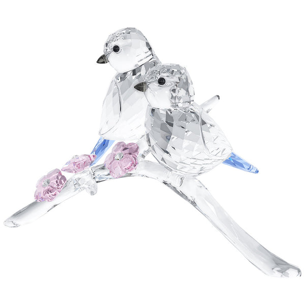 SWAROVSKI - BLUE CHICKADEES COUPLE