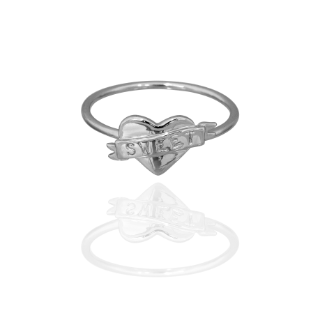 Boh Runga Small But Perfectly Formed Lil Sweetheart Ring - Size K