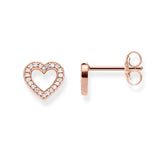 Thomas Sabo Open Heart Rose Gold Plate Studs - TH1945CZR