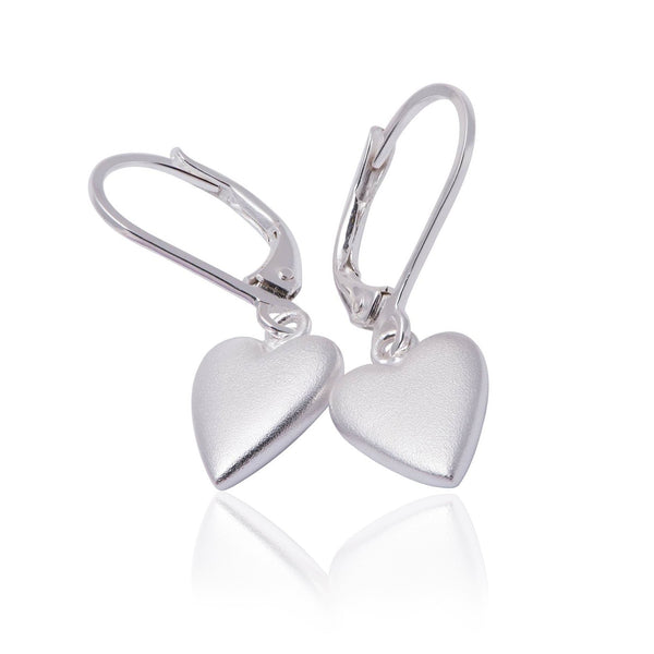 The Heart Series Drop Earrings - Silver