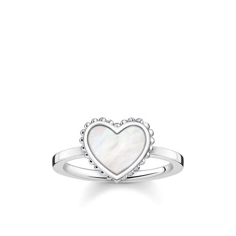 THOMAS SABO RIVIERA MOTHER OF PEARL HEART RING