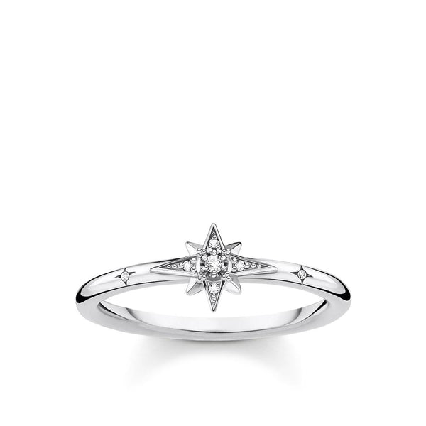 Thomas Sabo Cubic Zirconia Star Ring- Silver