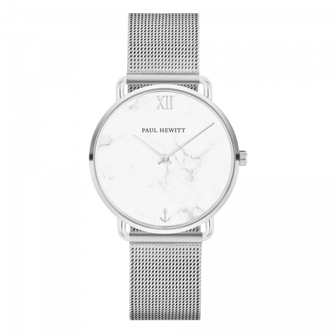 Paul Hewitt Watch Miss Ocean Line Marble Stainless Steel Mesh Strap