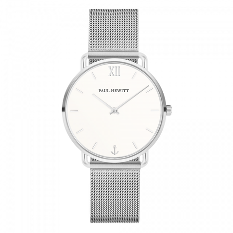 Paul Hewitt Watch Miss Ocean Line White Sand Stainless Steel Mesh Strap