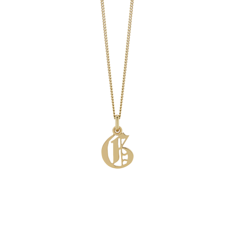 MEADOWLARK PETITE CAPITAL LETTER NECKLACE - 9CT GOLD