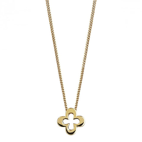 Lost Island Clover Necklace Yellow