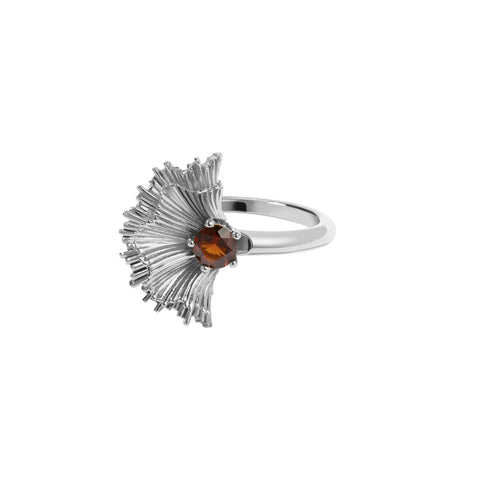 MEADOWLARK VITA RING STERLING SILVER - THAI GARNET