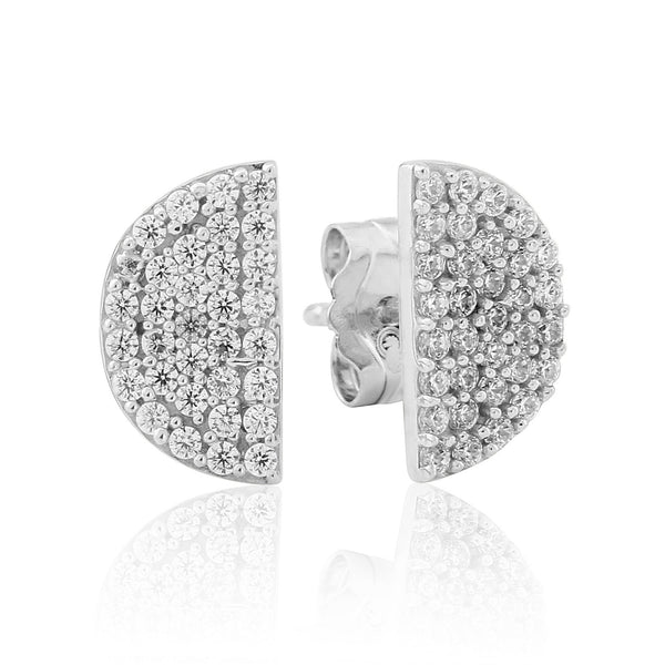 Waterford CZ Set Half Circle Earrings - WE216
