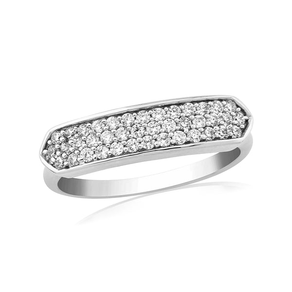 WATERFORD CZ SET RING WR202 - SIZE MEDIUM