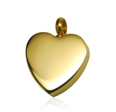 LIFE CYCLE CREMATION PENDANT - BRUSHED GOLD CLASSIC HEART