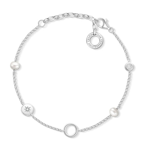 Thomas Sabo Charm Club Fresh Water Pearl Bracelet - CX0273