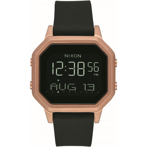 Nixon - Siren SS Rose Gold/Black Chronograph Watch - A1211 1098-00