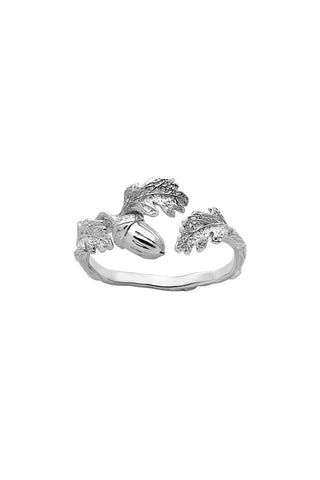 Karen Walker Acorn & Leaf Ring - Sterling Silver
