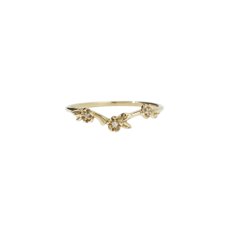 Meadowlark Alba Band Stone Set - 9ct Yellow Gold & White Diamond
