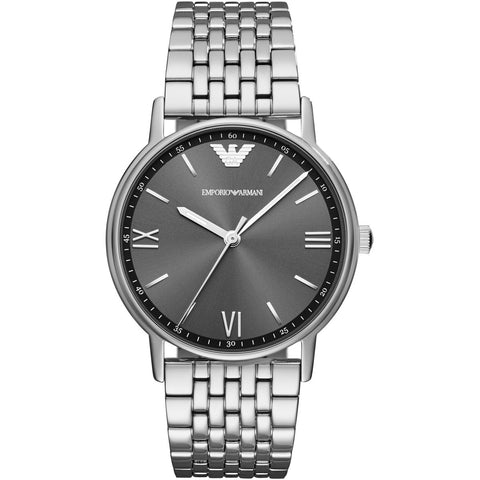 Emporio Armani Stainless Grey Dial Mens Watch - AR11068