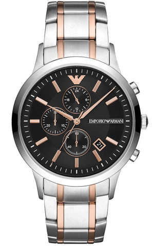 Emporio Armani Stainless Two-Tone Chronograph Mens Watch - AR11165