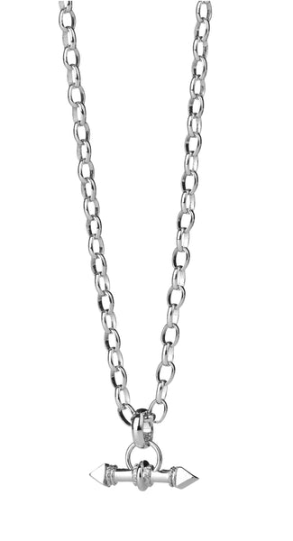 Karen Walker Arrow Fob Necklace Silver-60cm