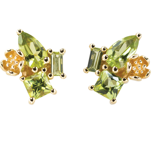 Karen Walker Rock Garden Earrings - 9ct Gold, Peridot