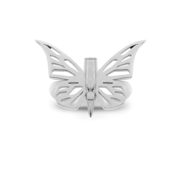 BULLET WITH BUTTERFLY WINGS RING